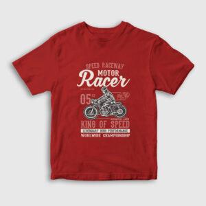King of Speed Çocuk Tişört kırmızı