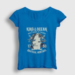 King Of The Ocean Kadın Tişört açık mavi