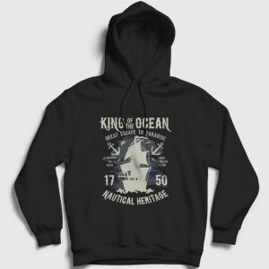 King Of The Ocean Kapşonlu Sweatshirt siyah