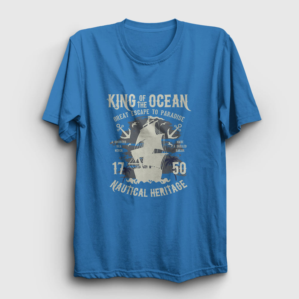 King Of The Ocean Tişört açık mavi