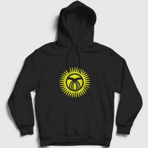 Kırgızistan Kapşonlu Sweatshirt siyah