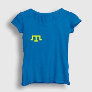 Kırım Tatar Bayrağı Kadın Tişört açık mavi