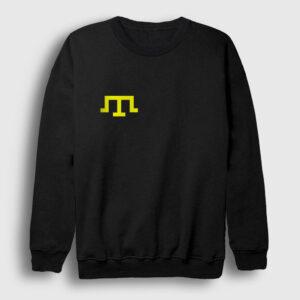 Kırım Tatar Bayrağı Sweatshirt siyah