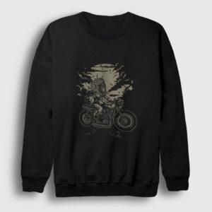Kızılderili Motorcu Şef Sweatshirt siyah