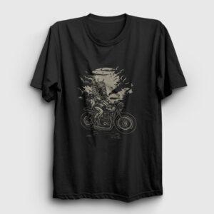 Kızılderili Motorcu Şef Tişört siyah