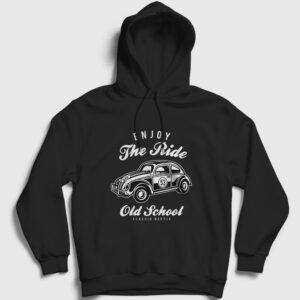 Klasik Vosvos Kapşonlu Sweatshirt siyah