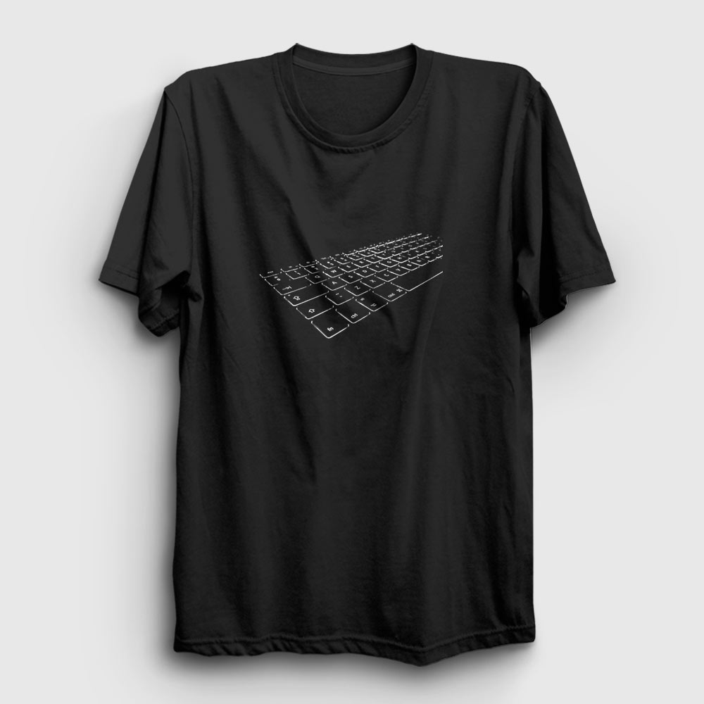 klavye tişört siyah