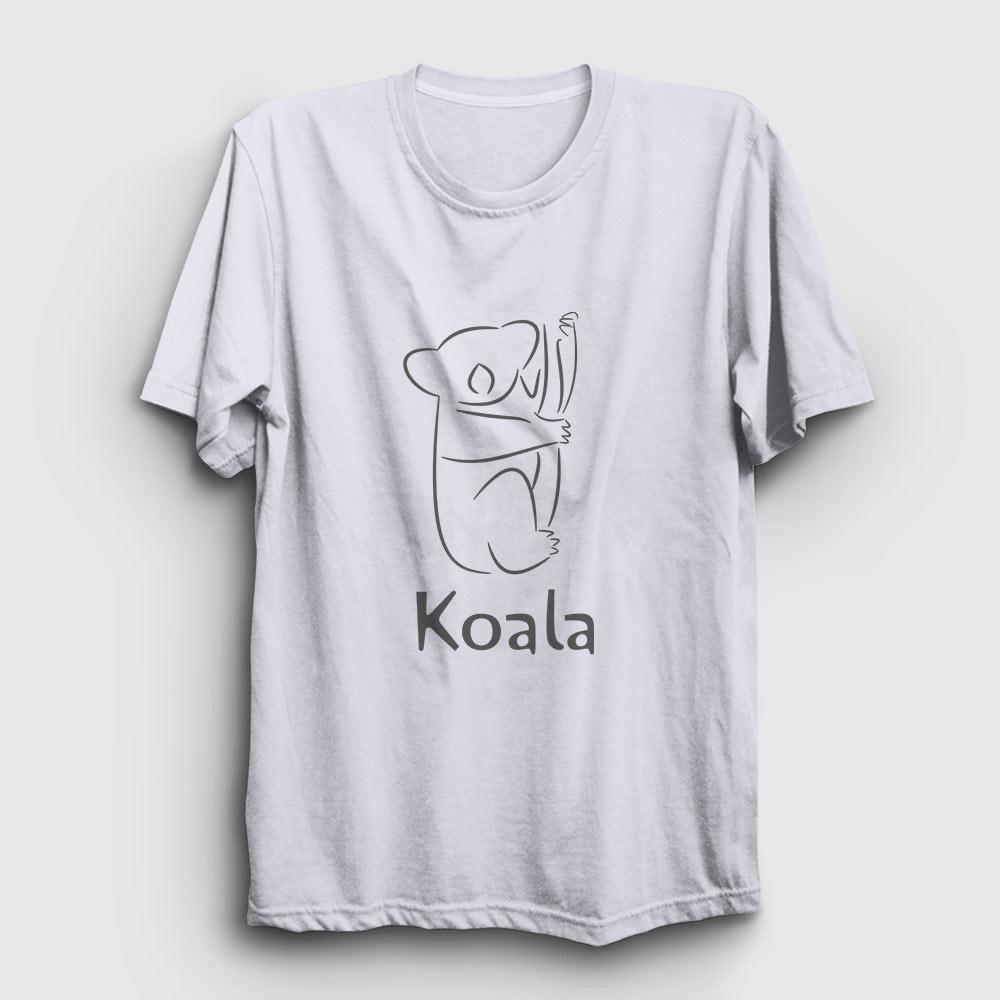 koala tişört beyaz