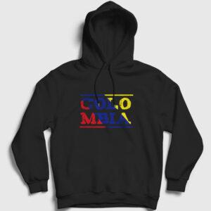 Kolombiya Kapşonlu Sweatshirt siyah