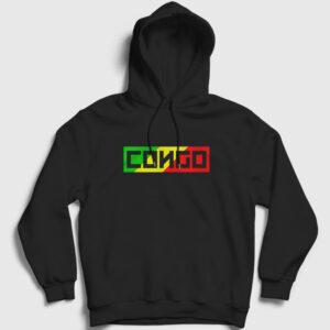 Kongo Cumhuriyeti Kapşonlu Sweatshirt siyah