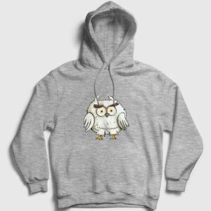 Korkmuş Baykuş Kapşonlu Sweatshirt gri kırçıllı