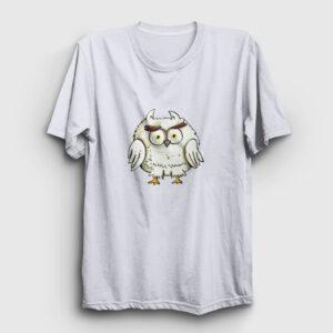 Korkmuş Baykuş Tişört beyaz