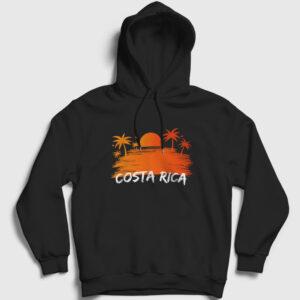 Kosta Rika Kapşonlu Sweatshirt siyah