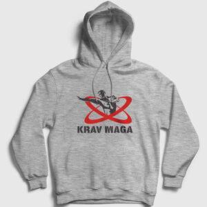 Krav Maga Kapşonlu Sweatshirt gri kırçıllı