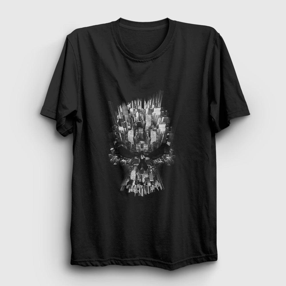 kurukafa ve şehir tişört siyah