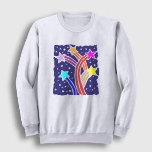 Kuyruklu Yıldızlar Sweatshirt beyaz