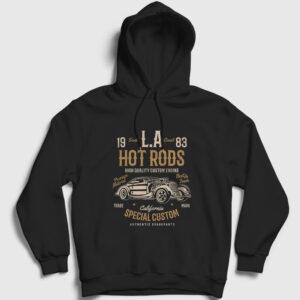 La Hot Rods Kapşonlu Sweatshirt siyah