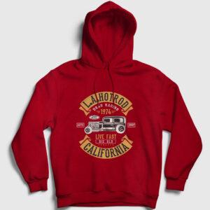 La Hotrod California Kapşonlu Sweatshirt kırmızı