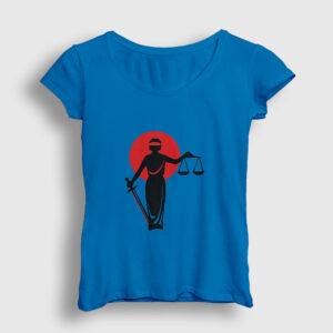 Lady Justice Kadın Tişört açık mavi