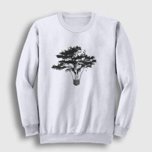 Lamba ve Ağaç Sweatshirt beyaz