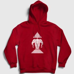 Laos Kapşonlu Sweatshirt kırmızı