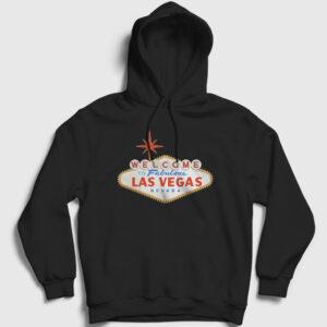 Las Vegas Kapşonlu Sweatshirt siyah