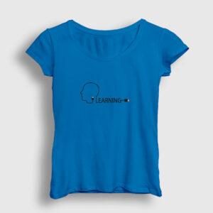 Learning USB Kadın Tişört açık mavi