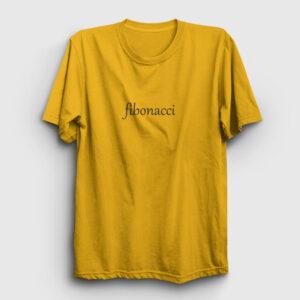 Leonardo Fibonacci Tişört sarı