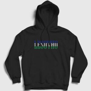 Lesotho Kapşonlu Sweatshirt siyah