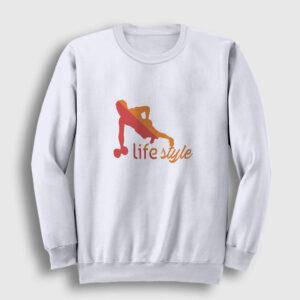 LifeStyle Sweatshirt beyaz