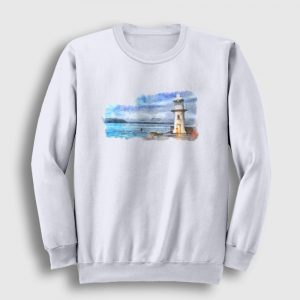 Lighthouse Sweatshirt beyaz