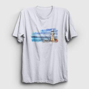 Lighthouse Tişört beyaz
