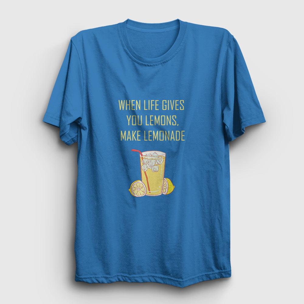 limonata tişört açık mavi