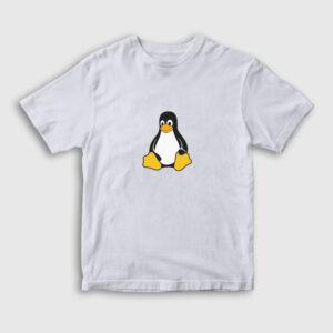 Linux Çocuk Tişört beyaz