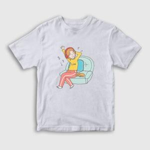 Live Çocuk Tişört beyaz