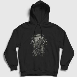 Live To Ride Kapşonlu Sweatshirt siyah