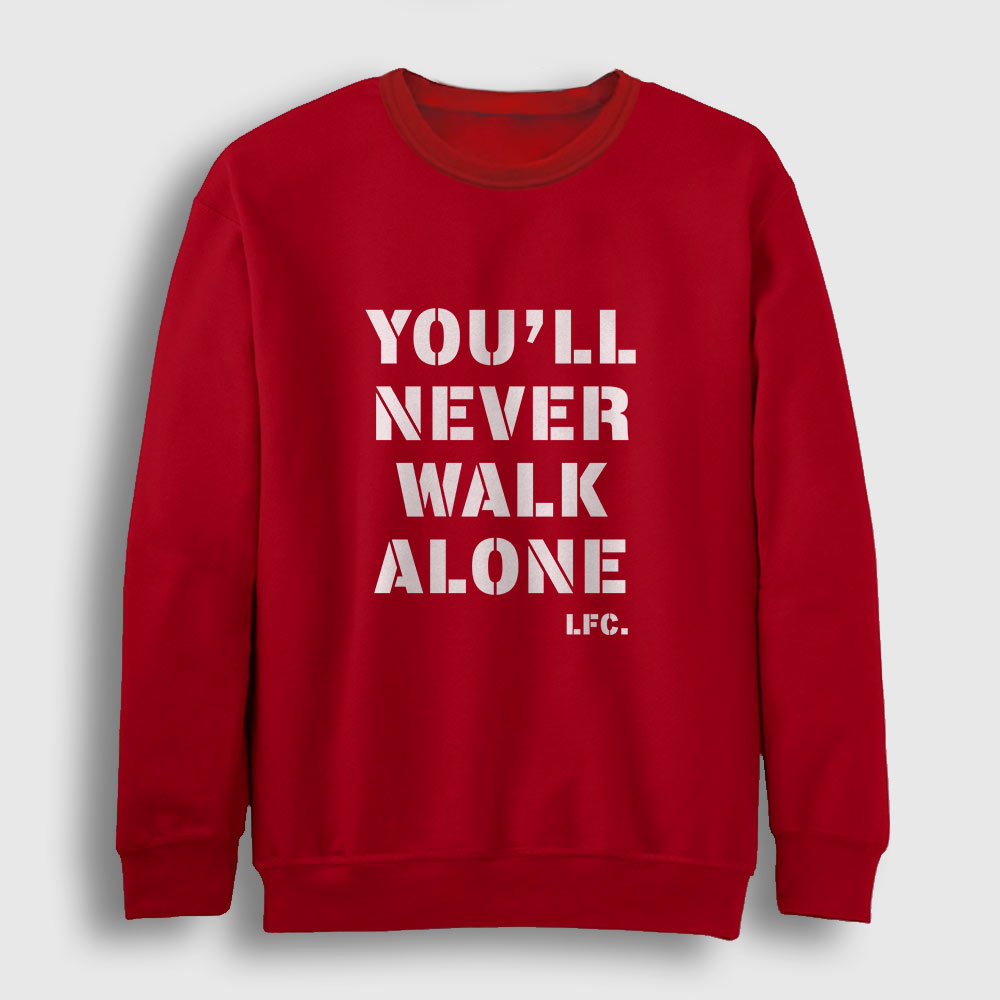 Liverpool Sweatshirt – You Will Never Walk Alone kırmızı