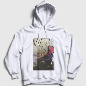 Londra Kapşonlu Sweatshirt - West end beyaz