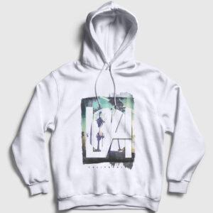 Los Angeles Kapşonlu Sweatshirt beyaz