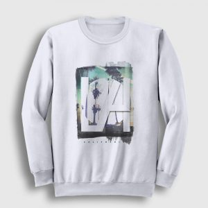 Los Angeles Sweatshirt beyaz