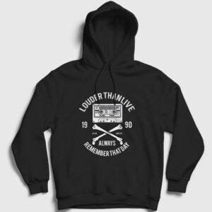 Louder Than Life Kapşonlu Sweatshirt siyah