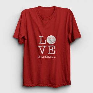Love Baseball Tişört kırmızı