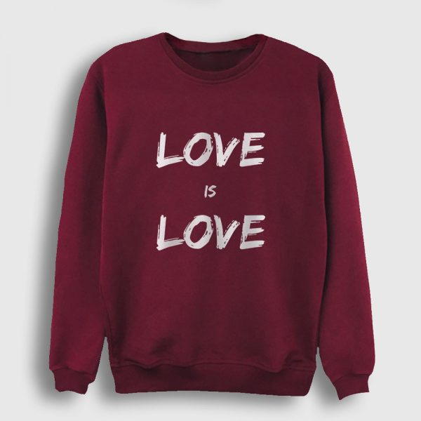 Love is Love Sweatshirt bordo