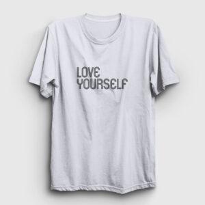Love Yourself Tişört beyaz