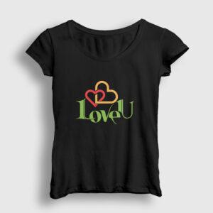 LoveU Kadın Tişört siyah