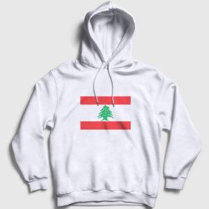 Lübnan Kapşonlu Sweatshirt beyaz