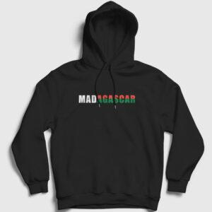 Madagaskar Kapşonlu Sweatshirt siyah