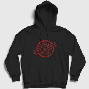 Made in Adana Kapşonlu Sweatshirt siyah