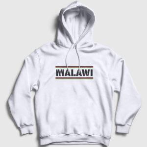Malavi Kapşonlu Sweatshirt beyaz