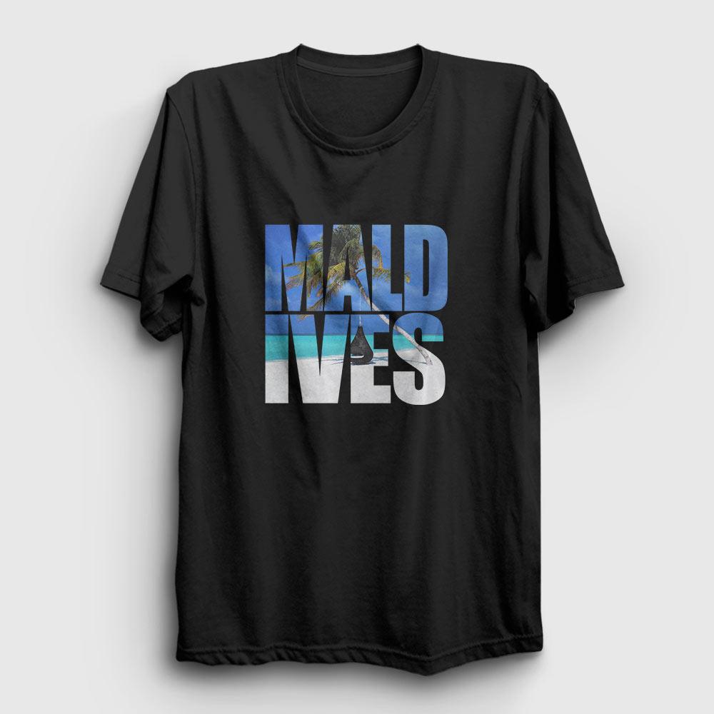 Maldivler Tişört siyah